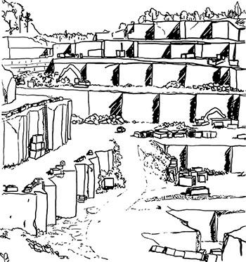 Cerocuarenta San Pablo collection drawing
